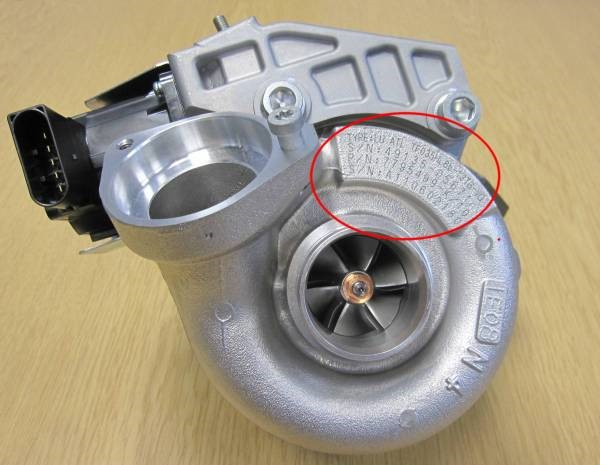 This Mitsubishi turbocharger is typically fitted to a BMW